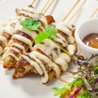 Chicken skewers - Stock Photo