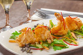 Tempura prawns — Stock Photo