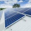 instalação de painel solar — Fotografia Stock  #22924470