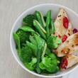 Chicken with greens - Stock Photo