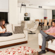 Couple in living room — Foto de Stock