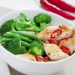 Chicken with greens - Foto Stock