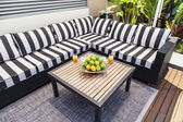 Outdoor lounge in summertime — Stock Photo