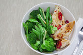 Chicken with greens — Stock Photo