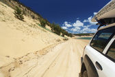 Driving on the beach — Stock Photo