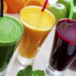 图库照片: Healthy juices
