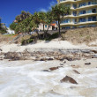 Eroded beach — Stock Photo