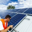 Solar panel installation — Foto Stock