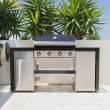 New double barbecue grill - Stock Photo