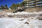 Eroded beach — Stock Photo