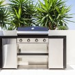 Stock Photo: New double barbecue grill