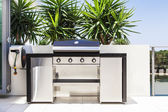 New double barbecue grill — Stock Photo