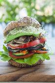 Vegan burger — Stock Photo