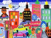大都会の抽象的なイメージ — ストック写真