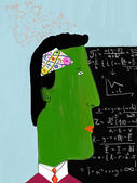 Bild eines mannes beschäftigt denkprozess ist — Stockfoto