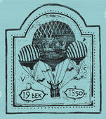 Air balloon — Stock Vector
