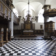 Interior of church in Kronborg Slot in Helsingor - Denmark - Stok fotoraf