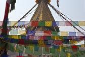 Bodhnath Stupa with prayer flags in Kathmandu - Nepal — Stock Photo