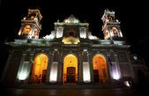 Catedral in Salta Capital, Argentina by night — Stock Photo