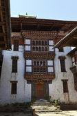 Cour du monastère au bhoutan lhuentse dzong. — Photo