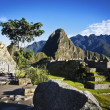 Sunrise at Machu Picchu with the Huayna Picchu in the background - Peru — Stock Photo