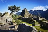 Sunrise at Machu Picchu with the Huayna Picchu in the background - Peru — Stock Photo