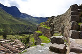 Inca ruins of Ollantaytambo - a fortress in the Sacred Valley next to Cuzco in Peru, South America — Stock Photo