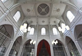 Interior of the wooden church Amstelkerk in Amsterdam, The Netherlands — Stock Photo