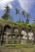 Gunung Kawi Temple - carved into a rock face- Bali - Indonesia - Asia — Stock Photo
