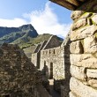 Royalty-Free Stock Photo: Ruins of a house in old Inca town Machu Picchu - Peru - South America