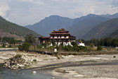 Pungtang Dechen Photrang Dzong in Punakha - Central Bhutan — Stock Photo