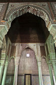 Interior of the Saadian Tombs (Moorish architecture) in Marrakesh, Central Morocco — Stock Photo