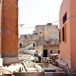 Leather tanneries in the old medina (old town) of Marrakesh, Central Morocco, North Africa. — Stock Photo