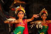 Balinese dance in a local Hindu temple in Bali - Indonesia — Stock Photo