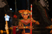 Balinese dance in a local Hindu temple in Bali - Indonesia — Stock Photo