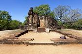 Ruins of an old temple (Potgul Vihara) in Polonnaruwa - Sri Lanka, Asia — Stock Photo