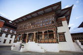 Inside the Trashi Chhoe Dzong in Thimphu, the capital of the Royal Kingdom of Bhutan, Asia — 图库照片