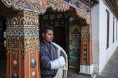 Inside the Trashi Chhoe Dzong in Thimphu, the capital of the Royal Kingdom of Bhutan, Asia — Stock Photo