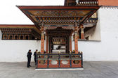 Inside the Trashi Chhoe Dzong in Thimphu, the capital of the Royal Kingdom of Bhutan, Asia — Foto Stock