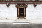 Inside the Trashi Chhoe Dzong in Thimphu, the capital of the Royal Kingdom of Bhutan, Asia — Стоковое фото