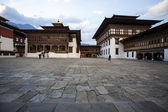 Inside the Trashi Chhoe Dzong in Thimphu, the capital of the Royal Kingdom of Bhutan, Asia — Stock Photo