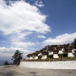Постер, плакат: Dochu La Chorten a famous Buddhist place of worship on top of a mountain in Western Bhutan Asia