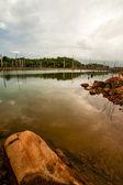 Stuwmeer brokopondostuwmeer in suriname - zuid-amerika — Stockfoto