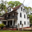 Colonial Dutch wooden house in the center of Paramaribo - Suriname - South America — Stock Photo #46494007