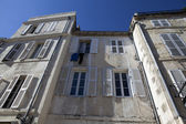 Facade of old French houses in La Rochelle, Charente-Maritime, France — Stock Photo