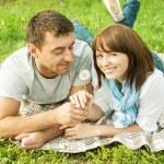 Romantic picnic — Stock Photo