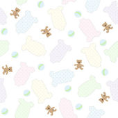 Seamless baby pattern. — Stock Vector