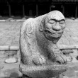 Lion Stone Statue - Stock Photo