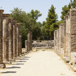 Stock Photo: Greek Stone Pillar Colonnade
