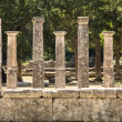 Seven Greek Pillars At Olympus - Stock Photo
